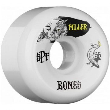 Bones 56mm SPF Pro Miller Guilty Cat Wheels - White