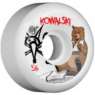 Bones 56mm SPF Pro Kowalski Bear Wheels - White