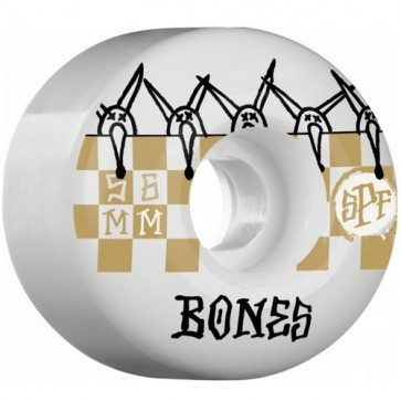 Bones 56mm SPF Tiles Wheels - White