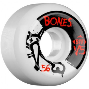 Bones 56mm STF V5 Series Wheels - White