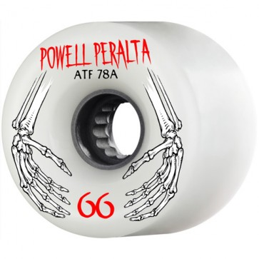Powell Peralta 66mm ATF Wheels - White