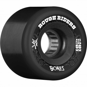 Bones 56mm ATF Rough Riders Wheels - Black