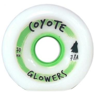 Coyote Wheels 70mm Glowers Wheels - White