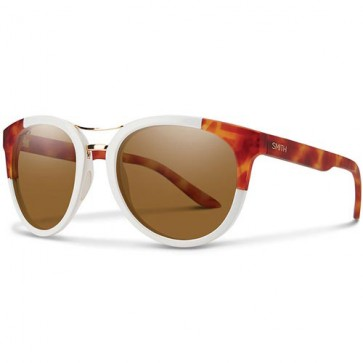 Smith Women's Bridgetown Polarized Sunglasses - White Honey Tortoise Block/ChromaPop Brown