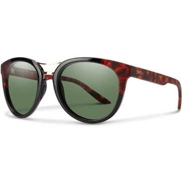Smith Women's Bridgetown Polarized Sunglasses - Black Havana Block/ChromaPop Grey Green