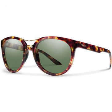 Smith Women's Bridgetown Polarized Sunglasses - Tortoise/Chromapop Grey Green