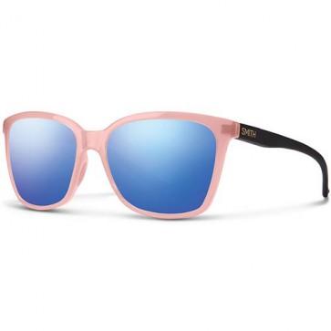 Smith Women's Colette Sunglasses - Blush Matte Black/Blue Flash Mirror