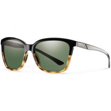 Smith Women's Colette Polarized Sunglasses - Black Fade Tortoise/Grey Green