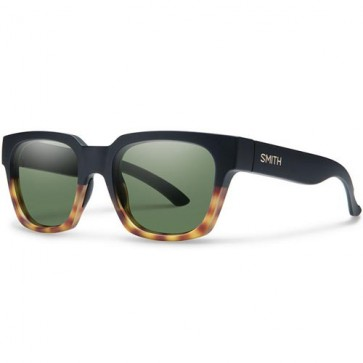 Smith Comstock Sunglasses - Matte Black Fade Tortoise/Grey Green