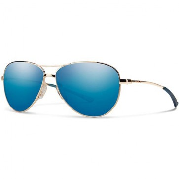 Smith Women's Langley Sunglasses - Gold/Blue Sol-X Mirror