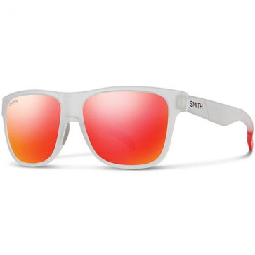 Smith Lowdown Polarized Sunglasses - Matte Crystal Red/Chromapop Sun Red Mirror