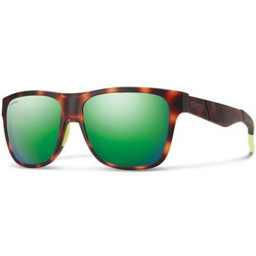 Smith Lowdown Polarized Sunglasses - Matte Tortoise Neon/Chromapop Sun Green Mirror