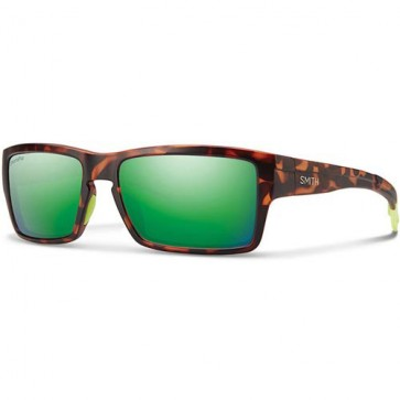 Smith Outlier Polarized Sunglasses - Matte Tortoise Neon/Chromapop Sun Green Mirror