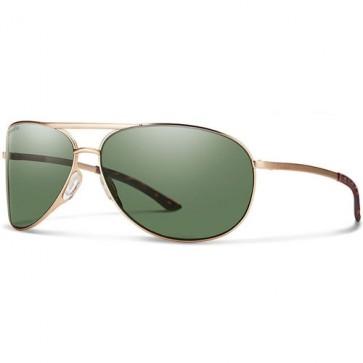 Smith Serpico 2.0 Polarized Sunglasses - Matte Gold/ChromaPop Grey Green