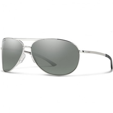 Smith Serpico 2.0 Polarized Sunglasses - Silver/ChromaPop Platinum