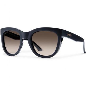 Smith Women's Sidney Polarized Sunglasses - Matte Black/Brown Gradient