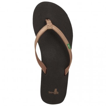 Sanuk Women's Yoga Joy Metallic Sandals - Rose Gold