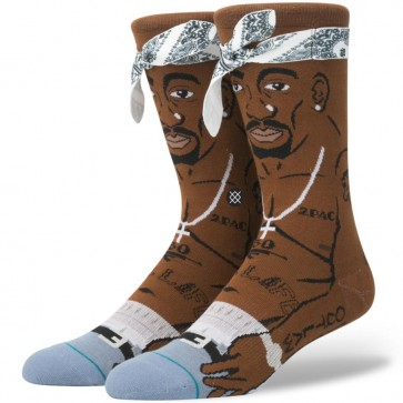 Stance Tupac Socks - Brown