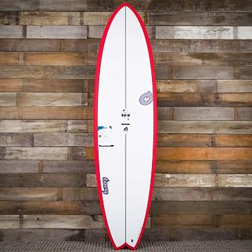 Torq Mod Fish TET-CS 7'2 x 22 1/2 x 3 Surfboard - Red/White - Deck