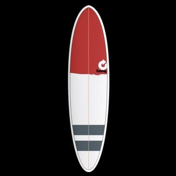 Torq Mod Fun 7'2 x 20 1/4 x 2 3/4 Surfboard - Red Nose/Stripes