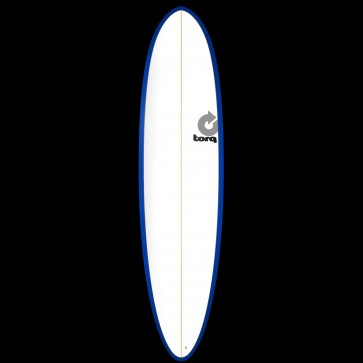 Torq Mod Fun 7'6 x 21 1/2 x 2 7/8 Surfboard - Blue/White - Top