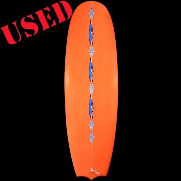 "TVS Fibercraft Surfboards USED 6'6"" Orange Barrel Surfboard"