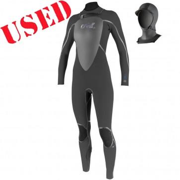 USED O'Neill Women's Dlux 5/4 w Hood Wetsuit - Size 10