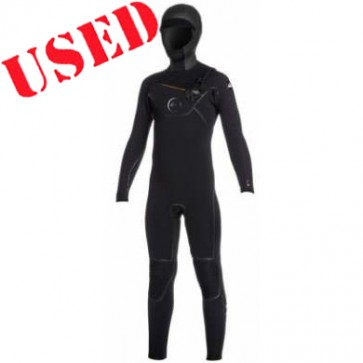 Quiksilver Youth Cypher 5/4/3 Hooded Chest Zip Wetsuit - Size 16