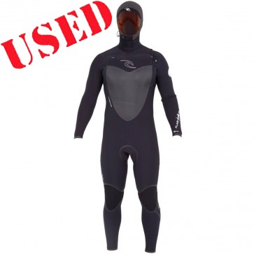 USED Rip Curl Flash Bomb 6/4 Hooded CZ Wetsuit - Size L