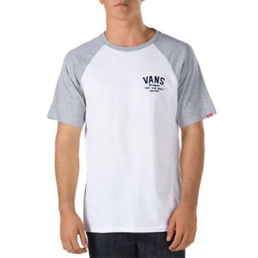 Vans Flockup Raglan T-Shirt - White/Athletic Heather