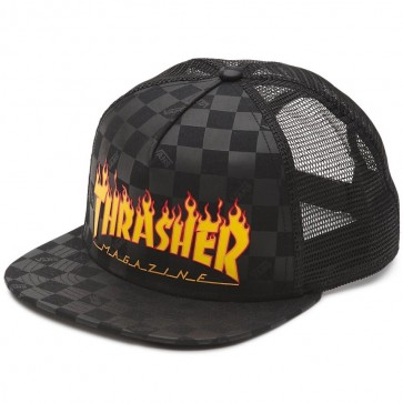 Vans X Thrasher Trucker Hat - Black
