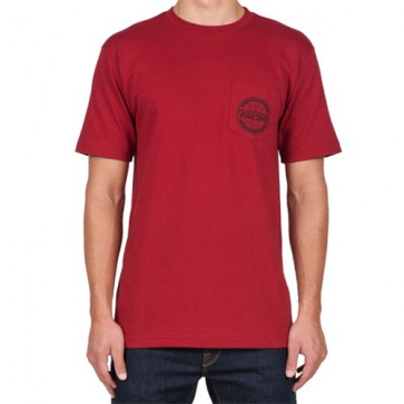 Volcom Message T-Shirt - Deep Red