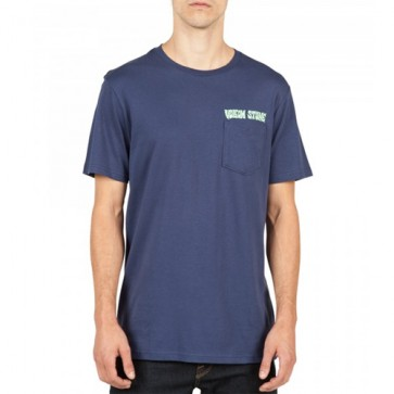 Volcom Sludge Stone Pocket T-Shirt - Blue Plum
