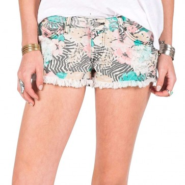 Volcom Women's Yae Cut Off Shorts - Electric Coral
