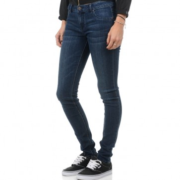 Volcom Women's Liberator Denim Leggings - Double Down Indigo