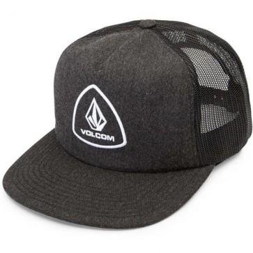Volcom Straight Forward Cheese Trucker Hat - Charcoal Heather