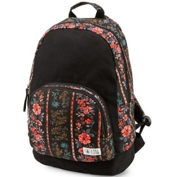 Volcom Women's Schoolyard Canvas Backpack - Black Print