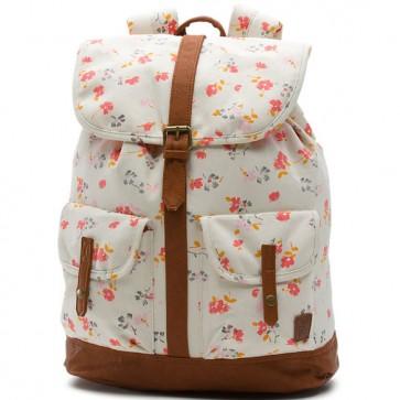 Vans Women's Lean In Leila Backpack - White Sands 70's Floral
