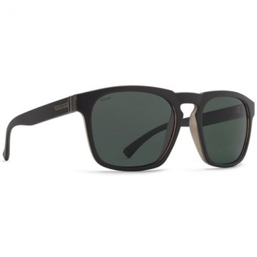 Von Zipper Banner Polarized Sunglasses - Black Satin/Wild Vintage Grey