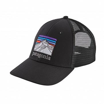 Patagonia Lines Logo Ridge LoPro Trucker Hat - Black