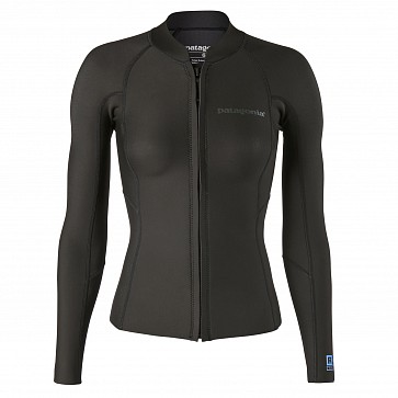 Patagonia Women's R1 Lite Yulex 1.5mm Front Zip Jacket - Black
