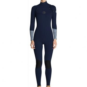 Rip Curl Women's Flash Bomb 3/2 Chest Zip Wetsuit - Blue