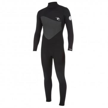 Rip Curl Omega 3/2 Flatlock Back Zip Wetsuit - Black