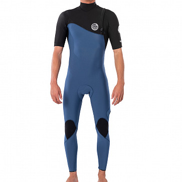 Rip Curl E-Bomb 2mm Short Sleeve Zip Free Wetsuit - Black/Blue