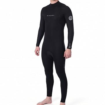 Rip Curl Dawn Patrol Plus 3/2 Back Zip Wetsuit - Black