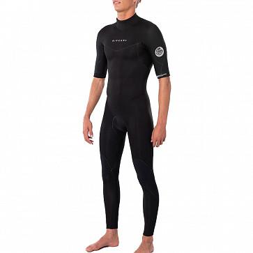 Rip Curl Dawn Patrol 2mm Short Sleeve Back Zip Wetsuit - Black