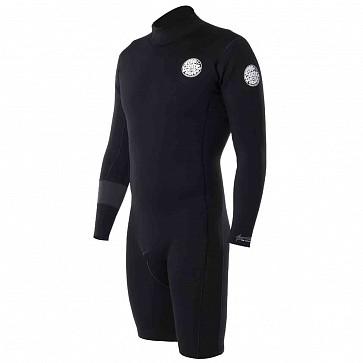 Rip Curl Aggrolite 2mm Long Sleeve Back Zip Spring Wetsuit - Black