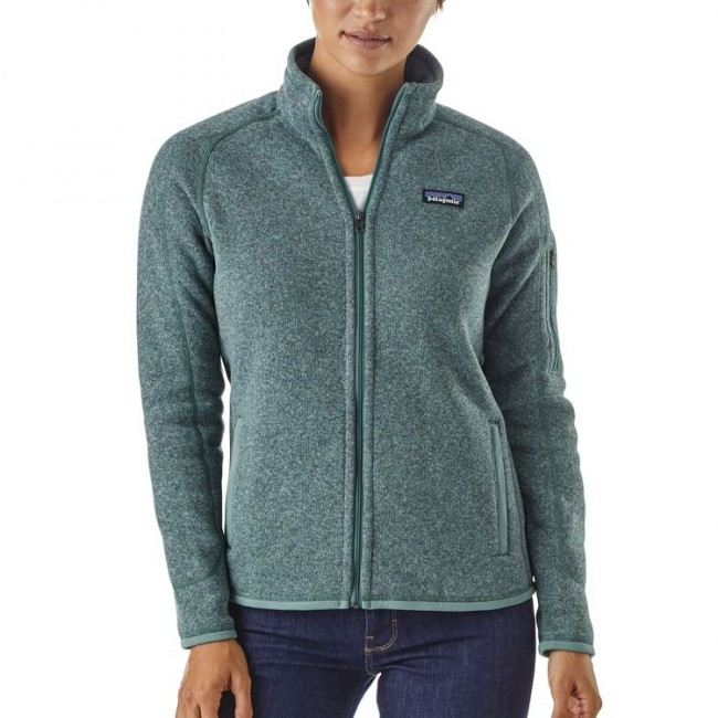 Patagonia Womens Better Sweater Fleece Shadow Blue Cleanline Surf