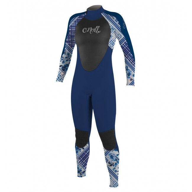 1d5b5d0a8f O Neill Youth Girls Epic 4 3 Wetsuit - Navy Indigo Patch