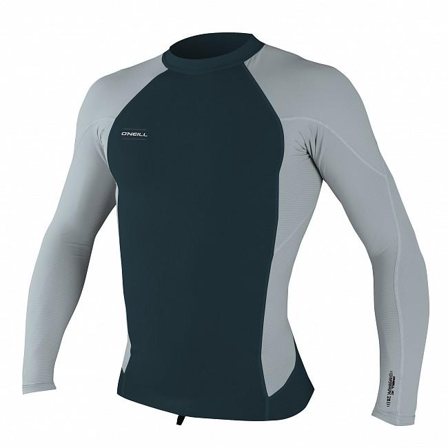 1c9f25b6aa O Neill Wetsuits HyperFreak Neo Skins Long Sleeve Rash Guard - Slate Cool  Grey - Cleanline Surf